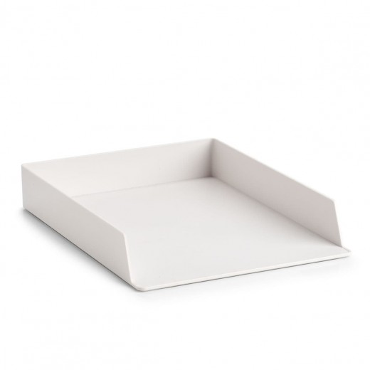 Organizator pentru documente, din plastic, Free Alb, L32,5xl24xH5 cm