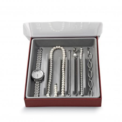 Organizator pentru sertar, Jewel Gri, l18,5xA21,5xH3,5 cm