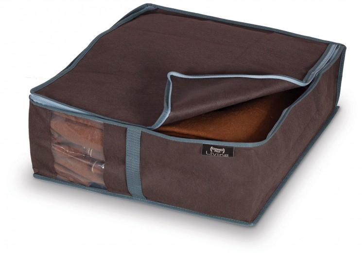 Organizator textil pliabil cu fermoar, Classic Maro, L45xl40xH15 cm