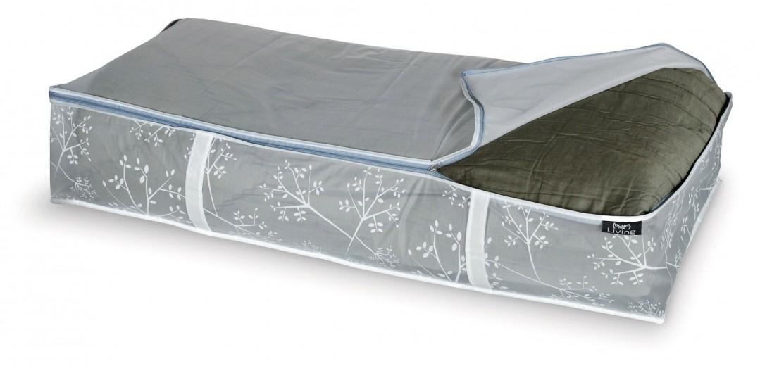 Organizator textil pliabil cu fermoar, Coper XL Transparent / Gri, L95xl45xH18 cm