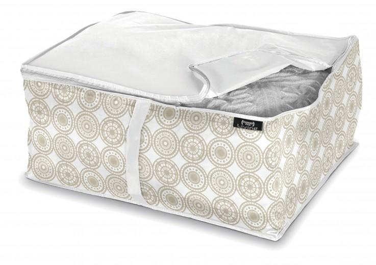 Organizator textil pliabil cu fermoar, Ella L Bej, L55xl45xH25 cm