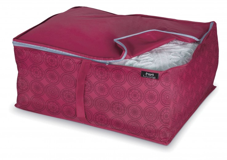 Organizator textil pliabil cu fermoar, Ella L Bordeaux, L55xl45xH25 cm
