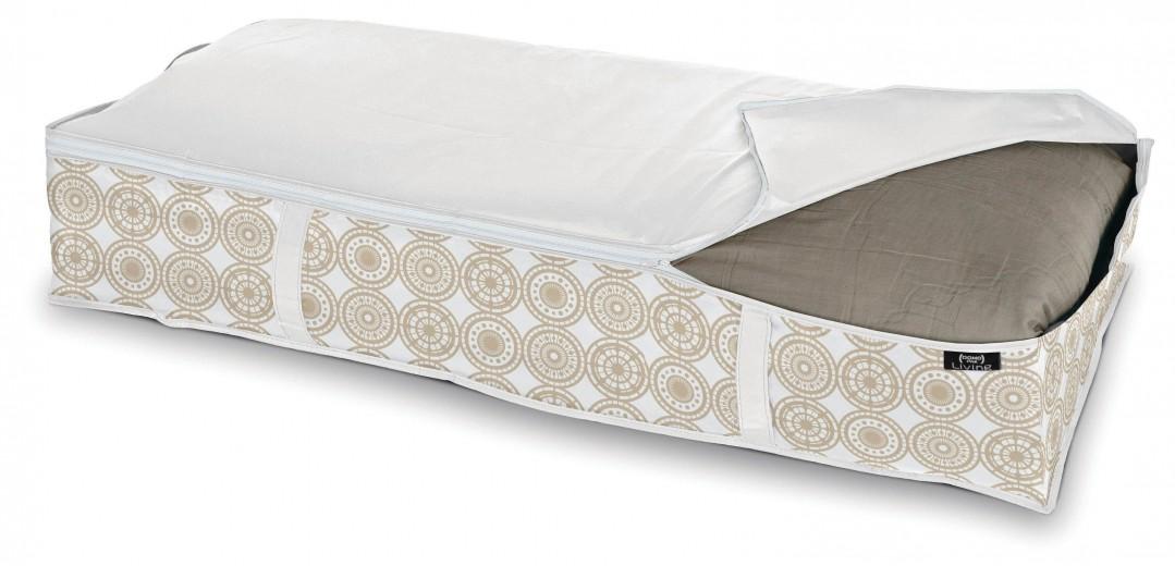 Organizator textil pliabil cu fermoar, Ella XL Bej, L95xl45xH18 cm