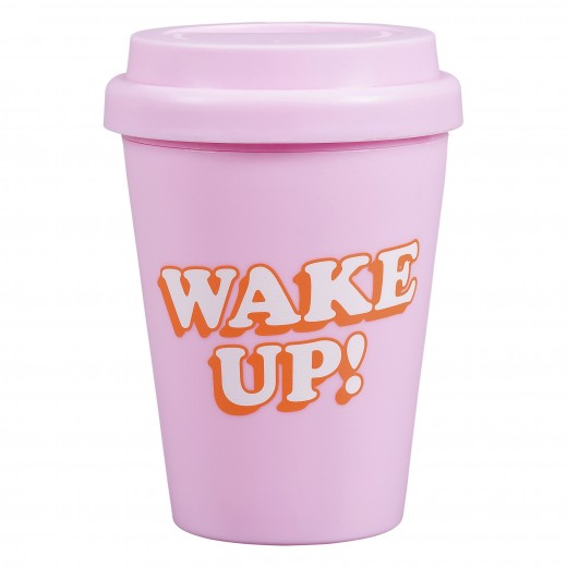 Pahar cu capac Wake' up YST100, 300 ml, Wild & Wolf