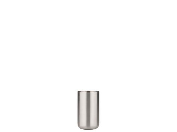 Pahar din otel pentru periute Steel 331253 Crom, Ø6,5xH11 cm, Zone Denmark