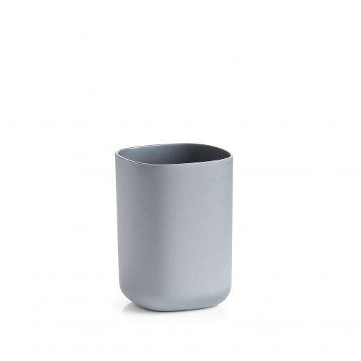 Pahar din plastic pentru periuta de dinti, Wellness Antracit, L7,3xl7,3xH9,5 cm