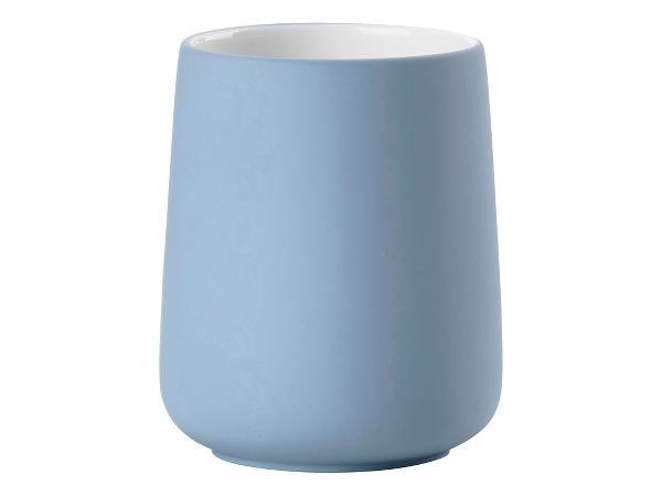 Pahar din portelan pentru periuta de dinti Nova Bleu 331864, Ø8xH10 cm, Zone Denmark