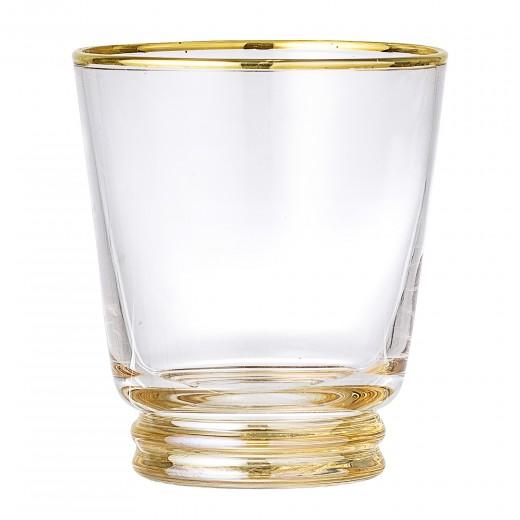 Pahar din sticla Clear Gold Ø9xh10 cm