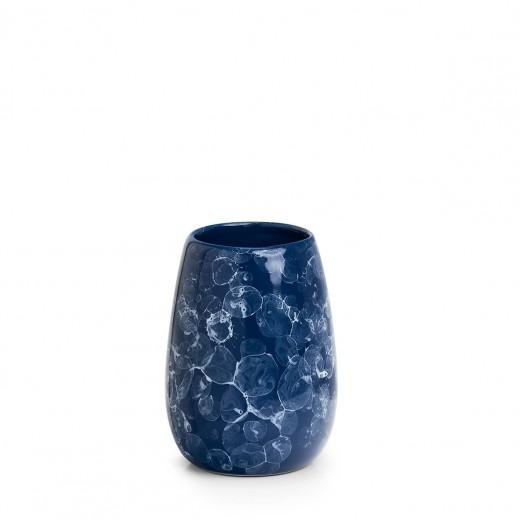 Pahar pentru periuta de dinti, din ceramica, Rare Bleumarin, Ø8,5xH11,5 cm