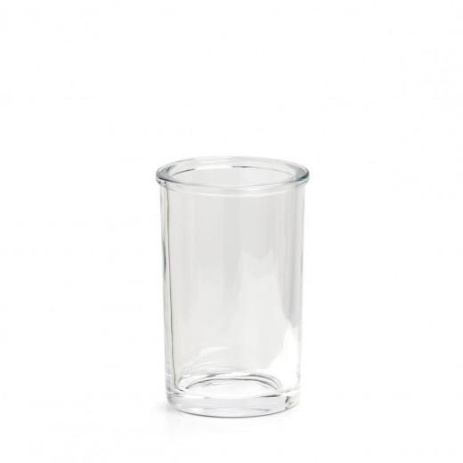Pahar pentru periuta de dinti, din sticla, Clear Transparent, Ø7,4xH11,3 cm