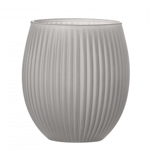 Pahar pentru periuta de dinti Grey Glass, Ø9xH10 cm
