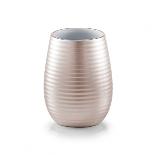 Pahar pentru periuta din ceramica, Nova Rose, Ø 8,2xH11 cm