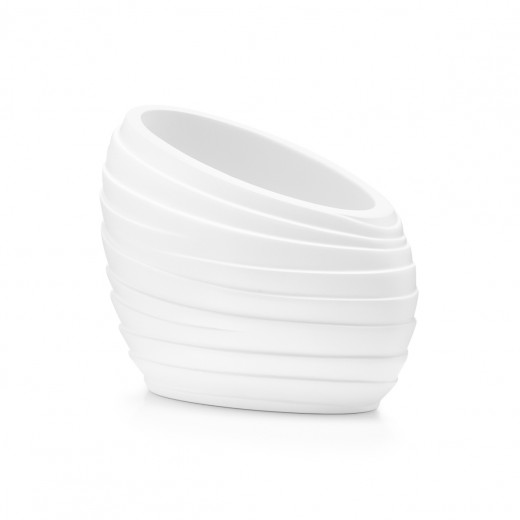 Pahar pentru periuta din polirasina, Abstrakt White, l12,3xA6,7xH8,7 cm