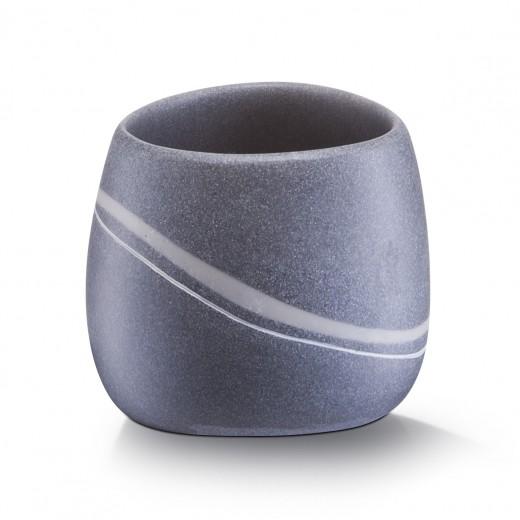 Pahar pentru periuta din polirasina, Stonefinish, l9,5xA9,2xH8 cm