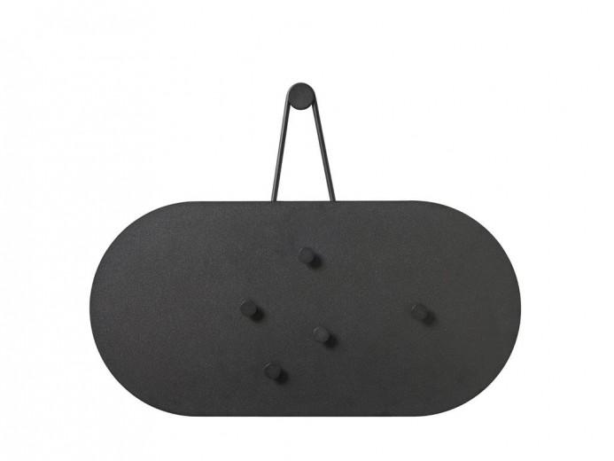 Panou magnetic din metal cu 5 accesorii Bulletin Board 12343 Negru, L60xl30 cm, Villa Collection