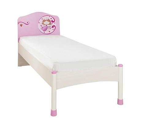 Pat din pal, pentru copii Little Princess Pink / Nature, 200 x 90 cm