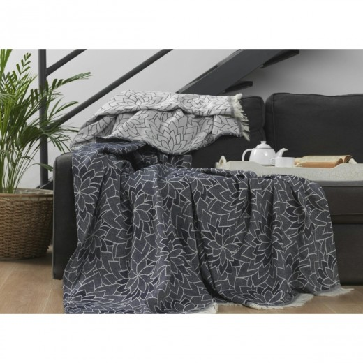 Patura din bumbac Elba E1 Grey, 220 x 240 cm