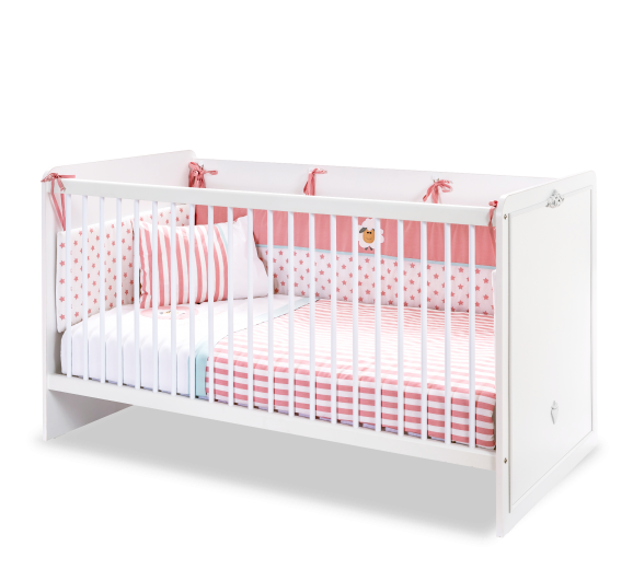 Patut din pal, pentru bebe Romantica Baby White, 140 x 70 cm