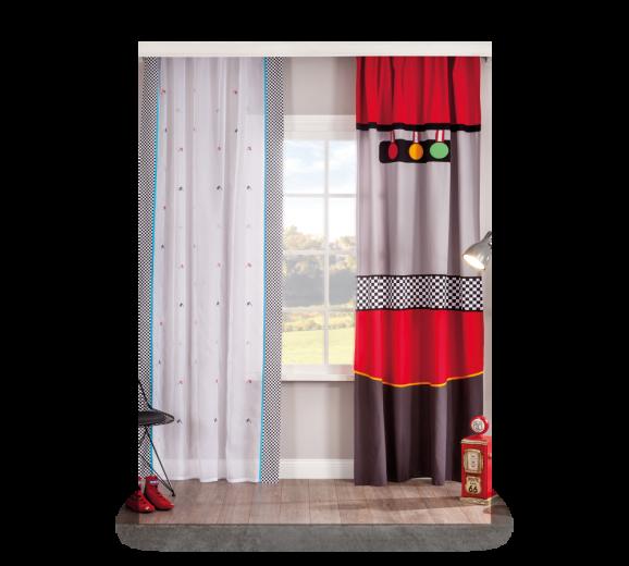 Set perdea si draperie pentru copii Bipanel Multicolour