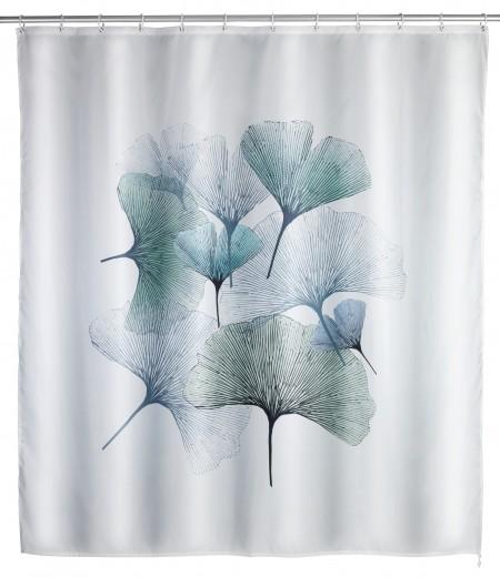Perdea dus anti-mucegai din poliester, Ginkgo Alb, 180 x 200 cm