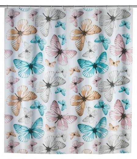Perdea dus din PEVA, Butterfly Multicolor, 180 x 200 cm