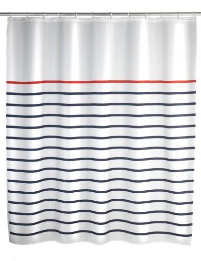 Perdea dus din poliester, Marine Multicolor, 180 x 200 cm