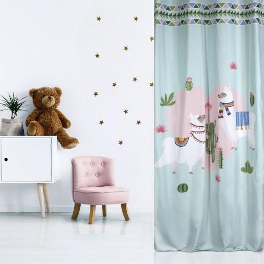 Perdea pentru copii Lama Multicolor, 140 x 250 cm, 1 bucata