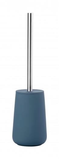 Perie toaleta cu suport de portelan Nova, Zone-Albastru
