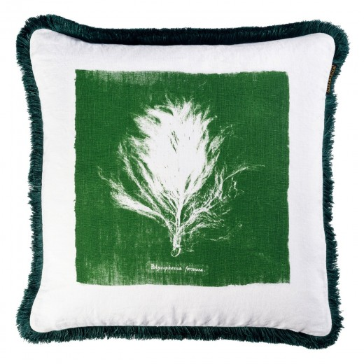 Perna decorativa Algae II Verde / Alb, L50xl50 cm