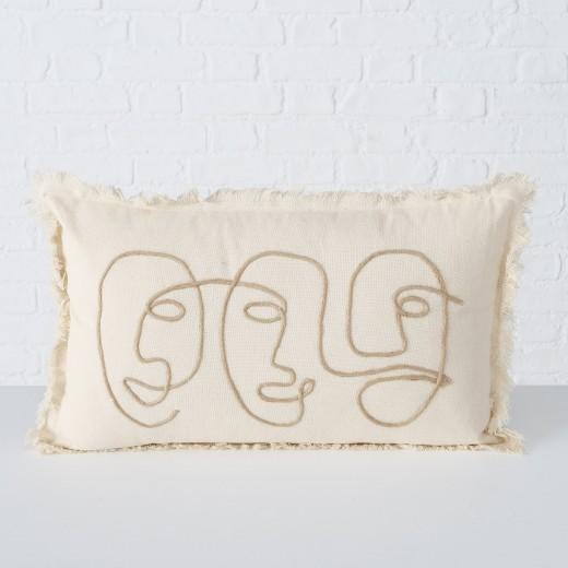 Perna decorativa din bumbac Pica Rectangle Bej, L50xl30 cm