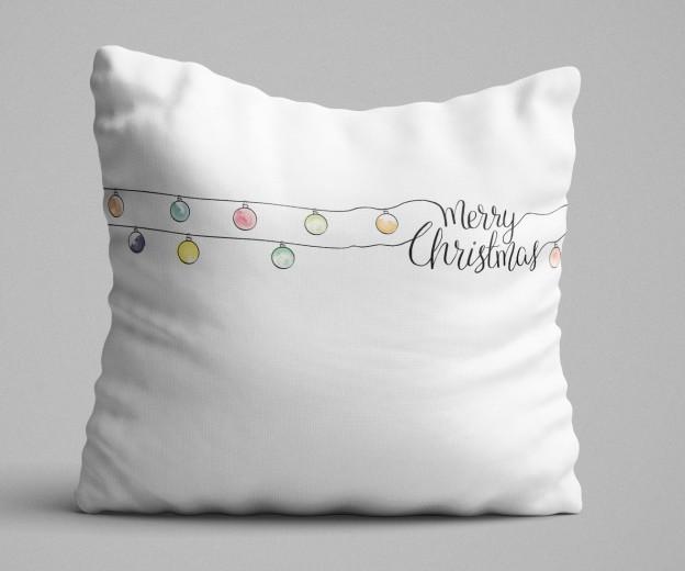 Perna decorativa Jingle Bells Multicolor, L43xl43 cm