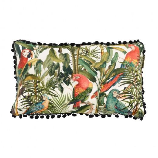 Perna decorativa Parrots of Brasil Multicolour, L50xl30 cm