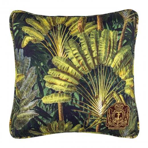Perna decorativa Traveller's Palm Verde, L50xl50 cm