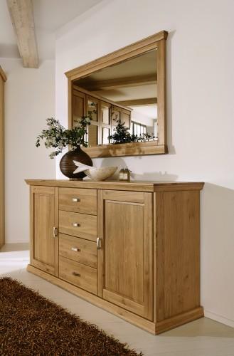 Oglinda decorativa din lemn de stejar Piano Natural, l140xA5,5xH87,5 cm