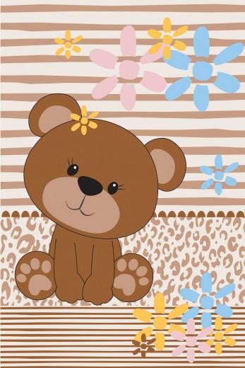 Covor Piccola Kids Pic-07 Teddy Bear, Tesut mecanic