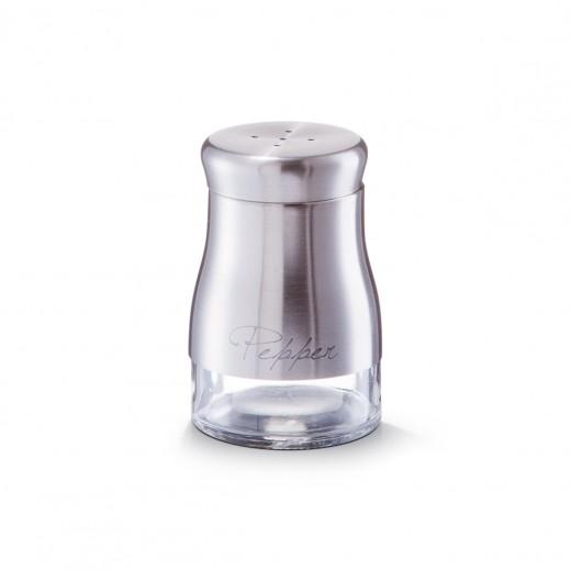 Pipernita din sticla si inox Pepper, Silver 150 ml, Ø 6xH9,5 cm