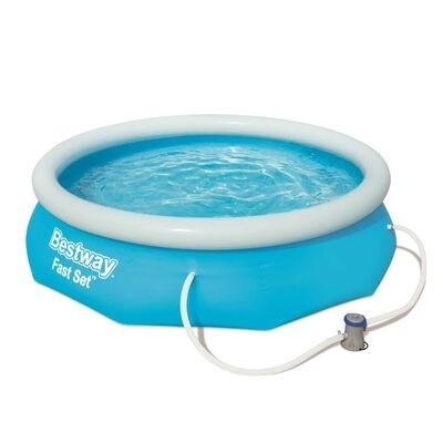 Piscina gonflabila cu pompa de filtrare, Fast Set Albastru, Ø305xH76 cm