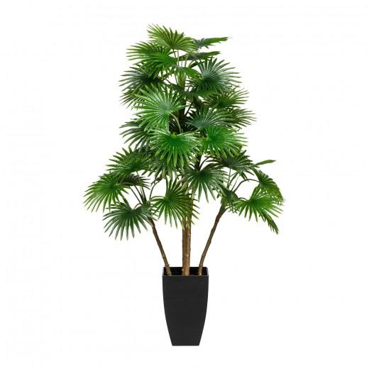 Planta artificiala in ghiveci, Fan Palm Verde, H105 cm