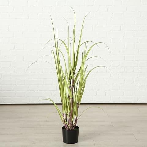 Planta artificiala in ghiveci Jule Sugarcane Verde, H180 cm