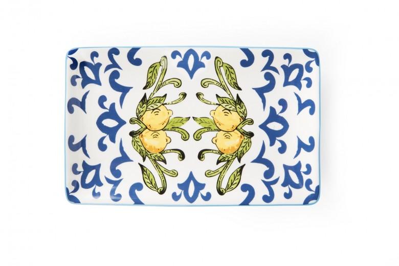 Platou pentru servire, din dolomita, L20xl12,5 cm, Amalfi Multicolor