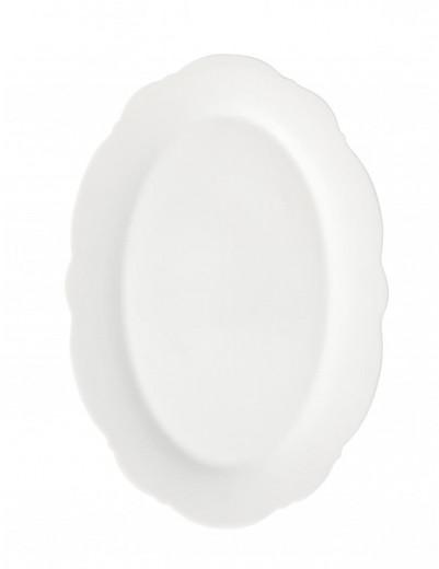Platou pentru servire din portelan, Meringa Alb, L30,5xl21 cm