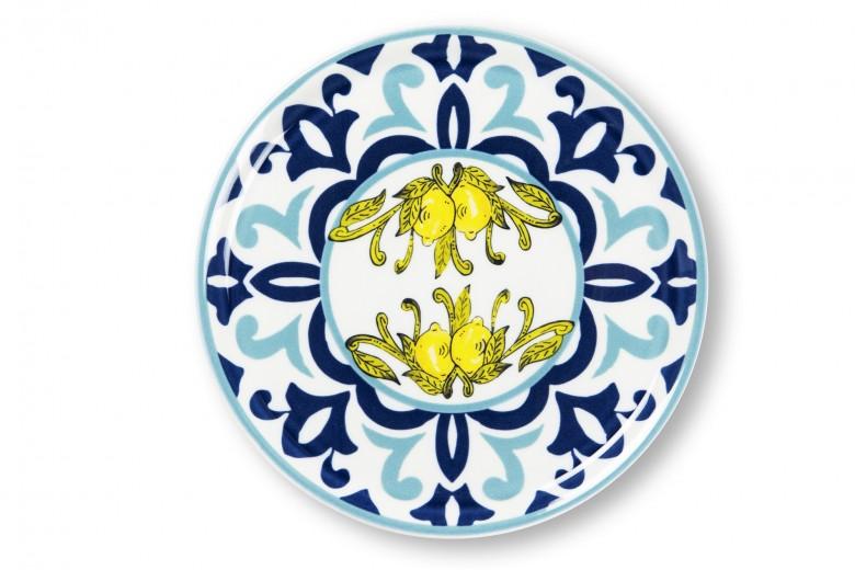 Platou pentru servire pizza, din portelan, Ø31 cm, New Amalfi Albastru