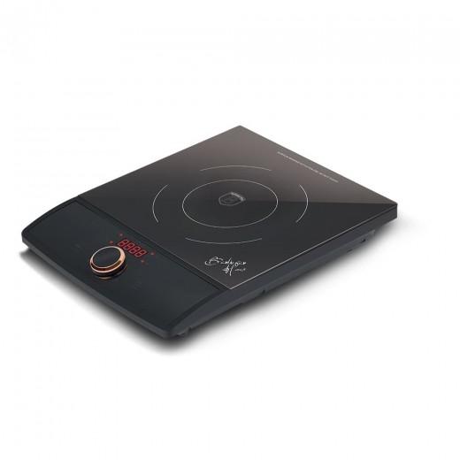 Plita cu inductie, control tactil, 1 arzator, 1800W, L29,5xl26 cm, Black Rose