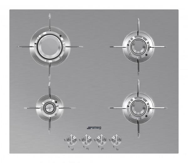 Plita incorporabila gaz PXL664, Inox, 60 cm, Dolce Stil Novo, SMEG