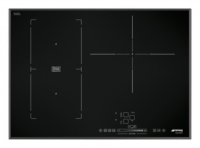 Plita incorporabila inductie SIM571B, Sticla neagra, 65 cm, Universal, SMEG
