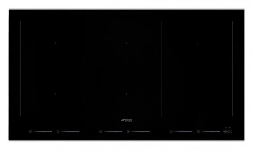 Plita incorporabila inductie SIM693WLDX, Sticla neagra, 90 cm, Dolce Stil Novo, SMEG