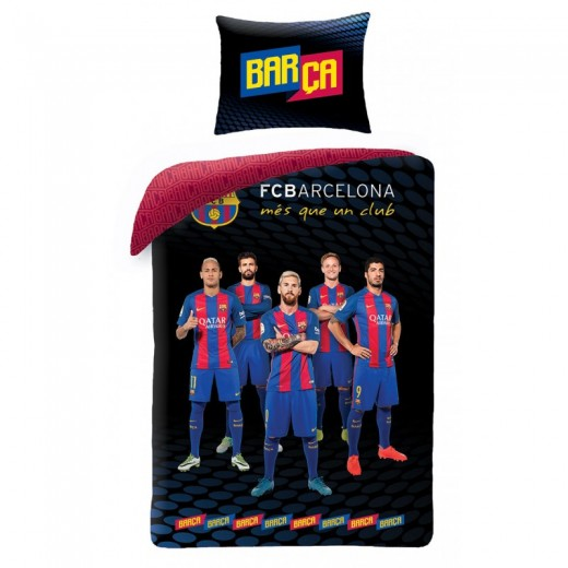 Lenjerie de pat copii Cotton FC Barcelona FCB-8014BL
