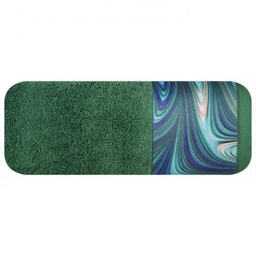 Prosop baie din bumbac Altai Eva Minge Verde inchis, 70 x 140 cm