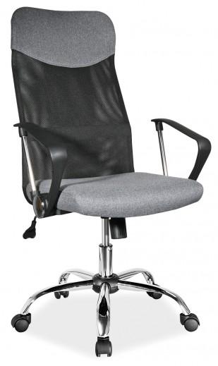 Scaun de birou ergonomic tapitat cu stofa Q-025 Grey, l62xA50xH107-116 cm