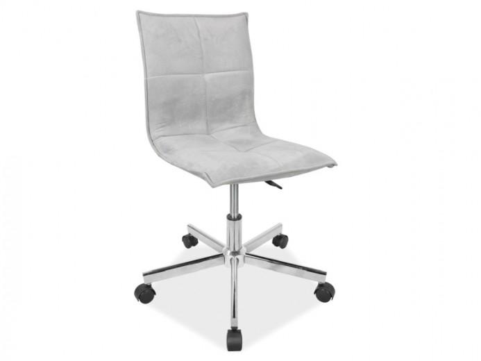 Scaun de birou ergonomic, tapitat cu stofa Q-M2 Grey, l42xA40xH80-90 cm